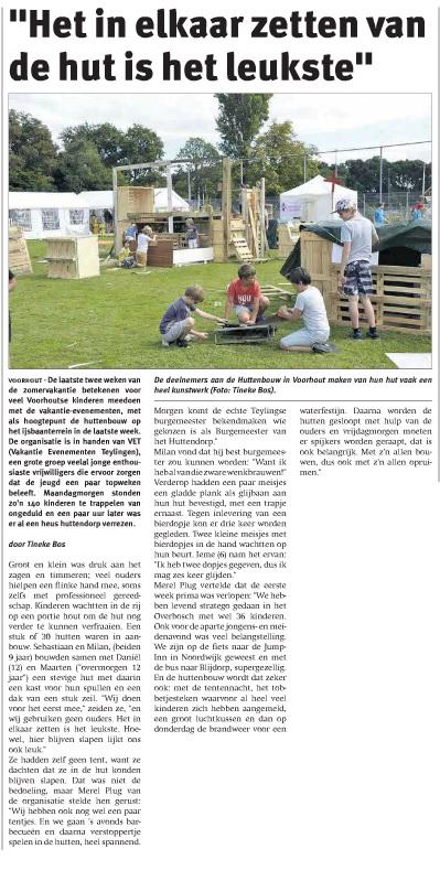 Teylinger nieuwsblad augustus 2016